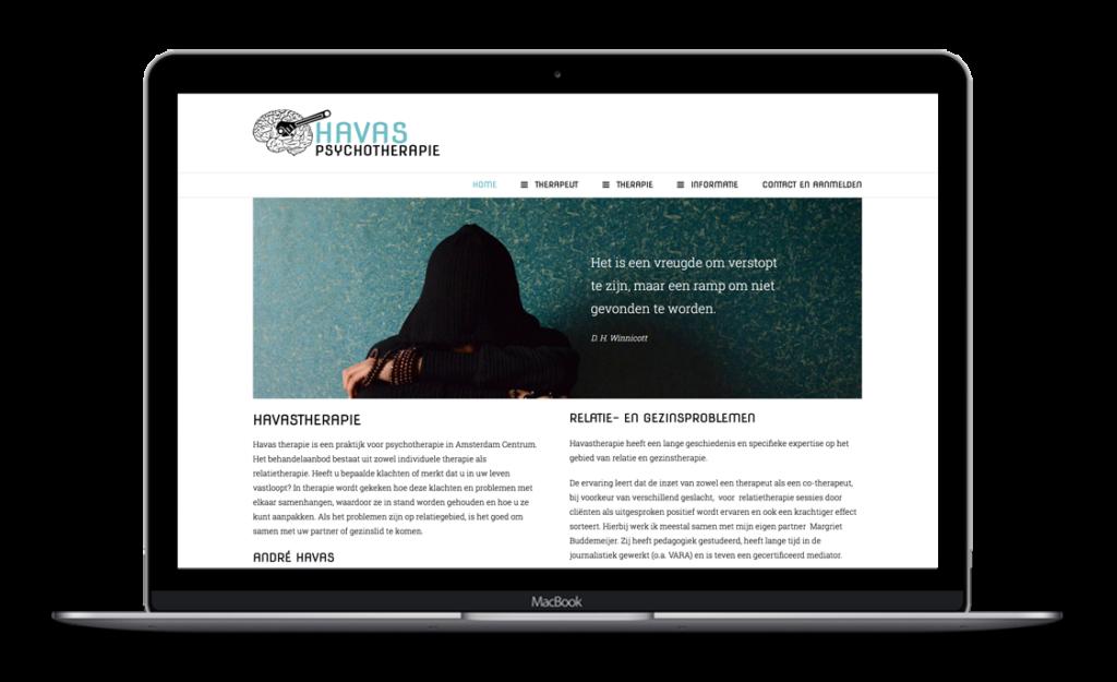 Website voor Havas Psychotherapie