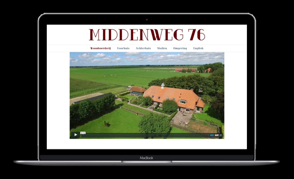 Website voor Middenweg 76