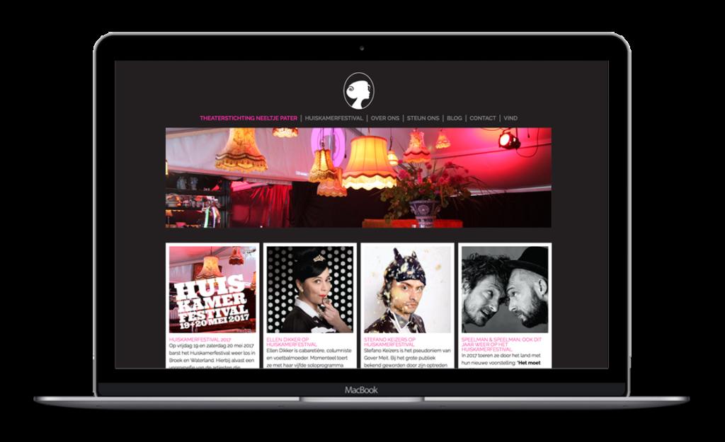 Website voor Theaterstichting Neeltje Pater