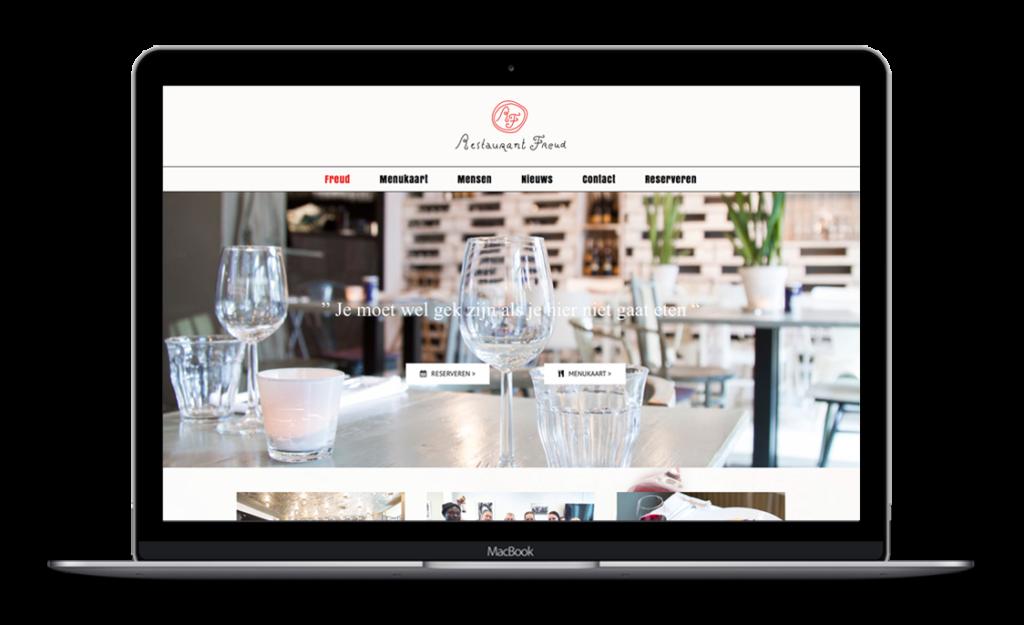 Website voor Restaurant Freud