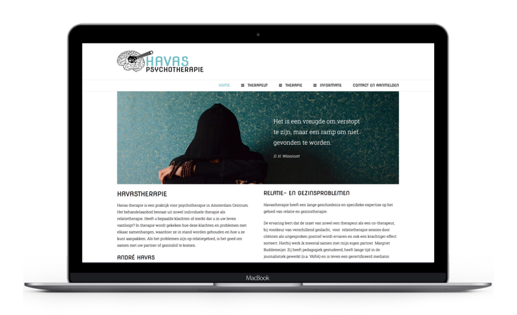 Website voor Havas Psychotherapie
