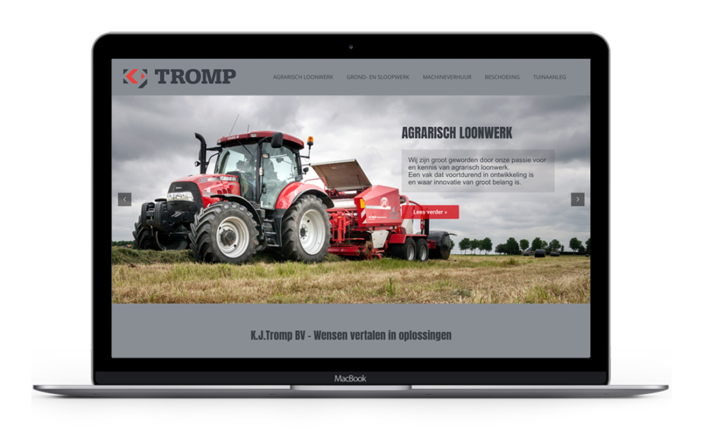 Website voor KJTromp