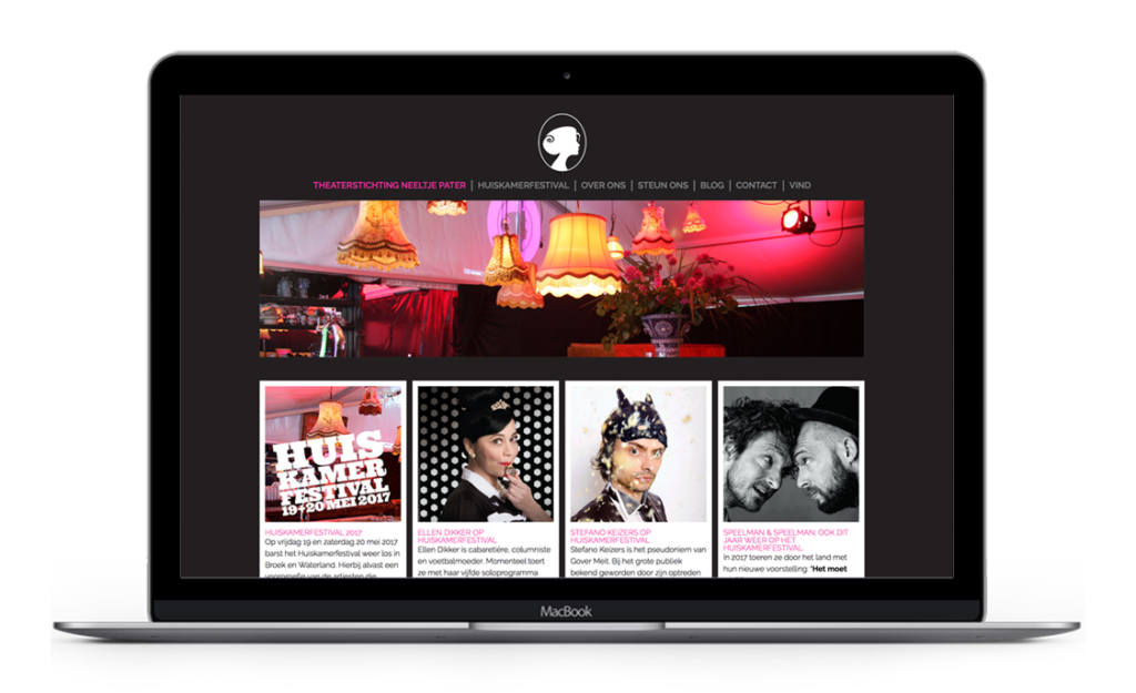 Website voor Theaterstichting Neeltje Pater