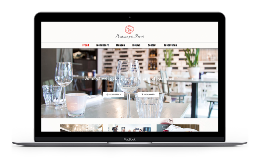 Website voor Restaurant Freud