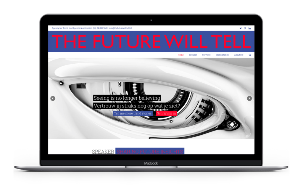 Website voor The Future Will tell